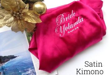 Satin Kimono Robes Bellicimo Hangers