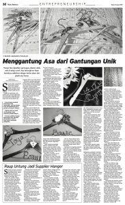 Bellicimo Hangers on Bisnis Indonesia Daily Menggantung Asa dari Gantungan Unik